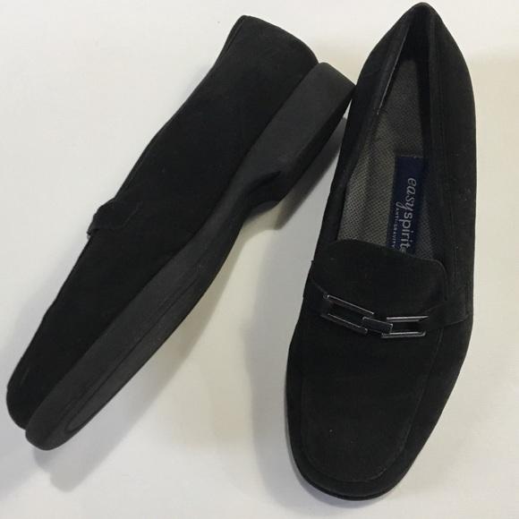 Easy Spirit Shoes - Black Suede Easy Spirit Anti-Gravity Loafer Sz 8.5